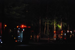 Fire and rescue workers responded to the scene, extinguishing the blaze. JILL FOUND / THE FLAT HAT