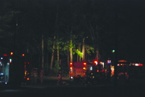 Firefighters responded to the house on Rolfe Rd. Wednesday evening. JILL FOUND / THE FLAT HAT