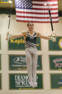 Senior gymnast Landon Funiciello came within a tenth of a point of an NCAA championship in 2013. COURTESY PHOTO / TRIBE ATHLETICS