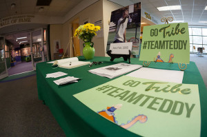 "The men's tennis program hosted the ""Tribe for Teddy"" event Sunday. COURTESY PHOTO / TRIBE ATHLETICS"