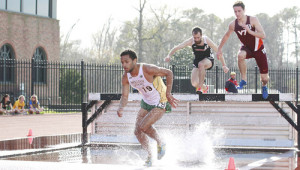 Sophomore Ryan Gousse won the 3,000-meter steeplechase in an IC4A-qualifying time Friday.  COURTESY PHOTO / TRIBE ATHLETICS