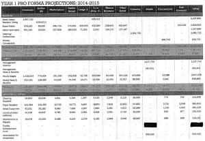Outline of Sodexo's financial projections for the fiscal year 2014-15.
