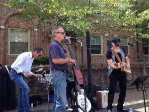 A band preforms at a recent festival. William and Mary freshman dorm Brown Hall can be seen in the background. COURTESY PHOTO / SHIRLEY VERMILION
