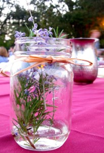 Placed on every table, mason jars were filled with lavender. COURTESY PHOTO / W&M.EDU