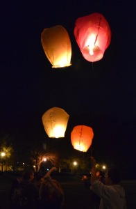 The lanterns take flight. ALISON SHOMAKER / THE FLAT HAT