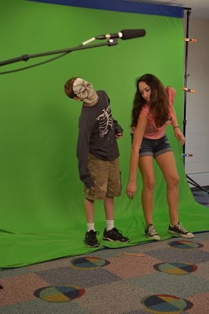 COURTESY PHOTO / TIM BARNARD. Participants had the chance to experience various areas of film production.