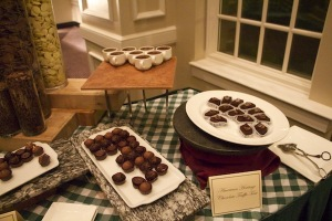 A selection of chocolate treats at an evening dinner. DEVON IVIE / THE FLAT HAT