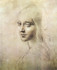 ''Head of a Young Woman'' (study for the angel in the ''Virgin of the Rocks'') is one of the sketches featured in the exhibit. COURTESY PHOTO / WM.EDU
