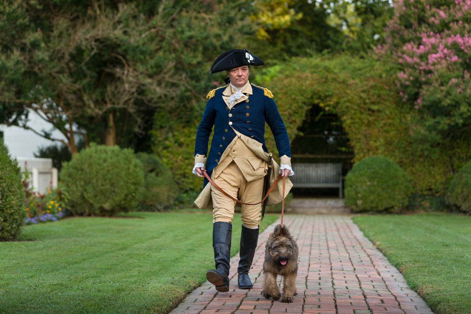 Briard puppy Liberty will act as Colonial Williamsburg's new mascot and reenactor, portraying George Washington's dog. COURTESY PHOTO / THE COLONIAL WILLIAMSBURG FOUNDATION