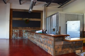 The taproom was constructed with wood panels slavaged from a 1907 barn. AMANDA WILLIAMS / THE FLAT HAT