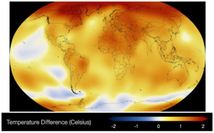 Figure 1 2014 Climate differences from NASA's Climate Time Machine