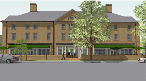 Artist's rendering of Tribe Square, produced in 2011. COURTESY PHOTO / WM.EDU