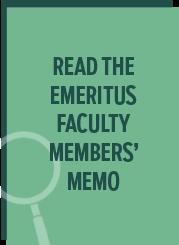 Faculty memo