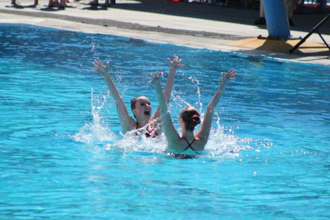 Swim team joy
