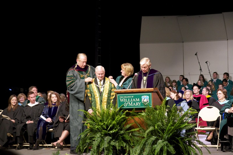 Gates inducted as chancellor of the College during Charter Day ceremony