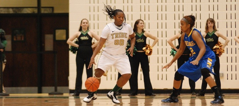 Women's basketball: Tribe falls to No. 8 Delaware on senior night, 79-53
