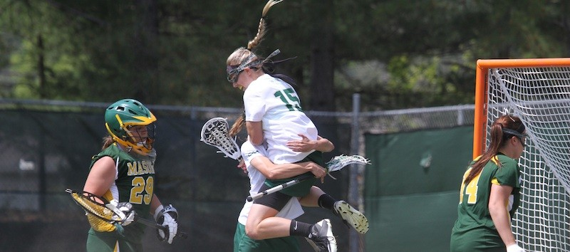 Lacrosse: 'Hallelujah': Mackrides leads with four goals as College routs George Mason, 18-8