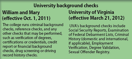 College background check policy examined