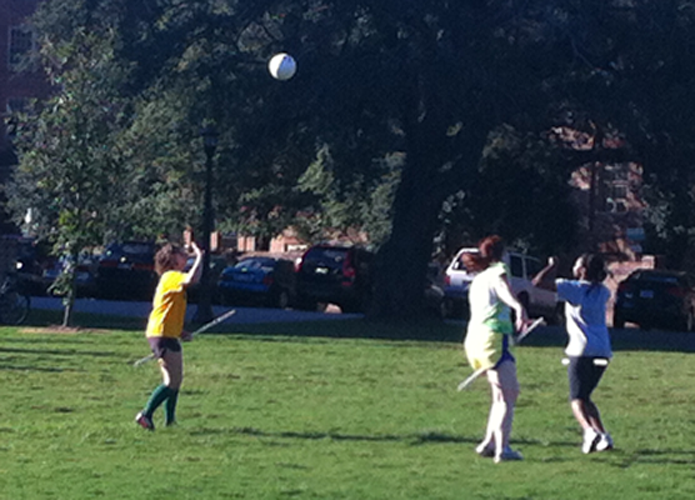 Catching the snitch: Club athletes at the College fall under the spell of quidditch