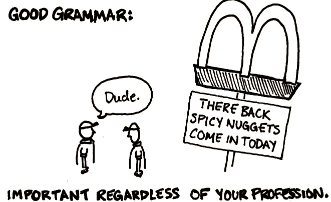There, their and they're: Writing with correct grammar will help you in the job market