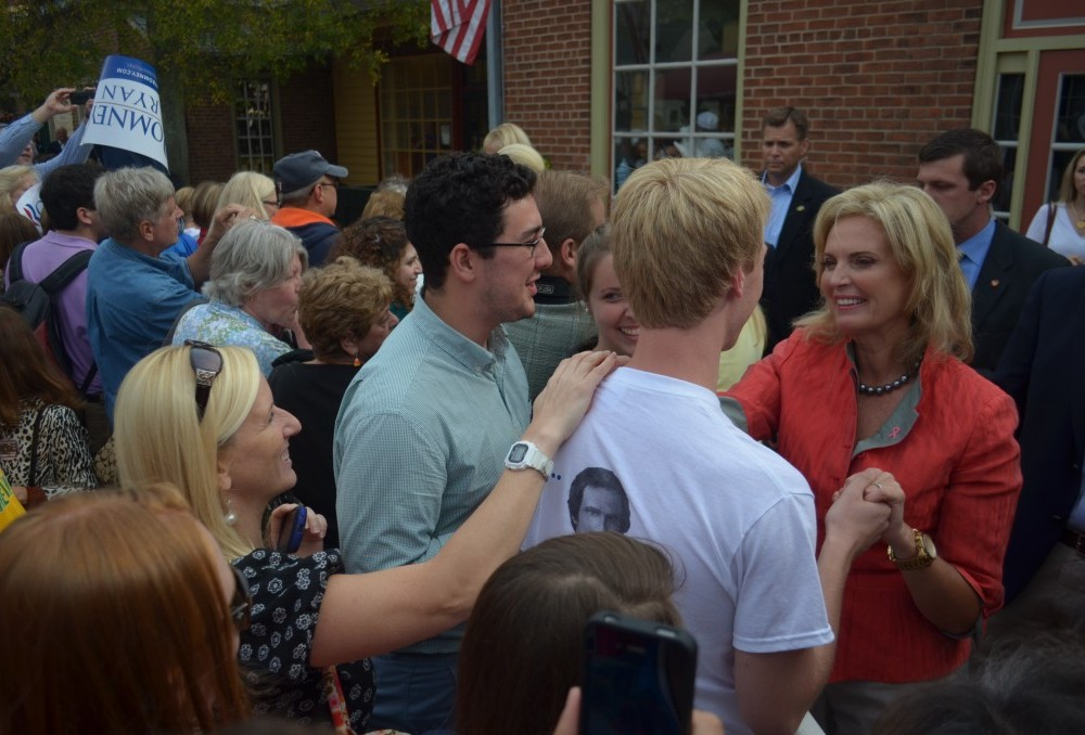 Ann Romney stops by the Peanut Shop in Merchant's Square on Friday