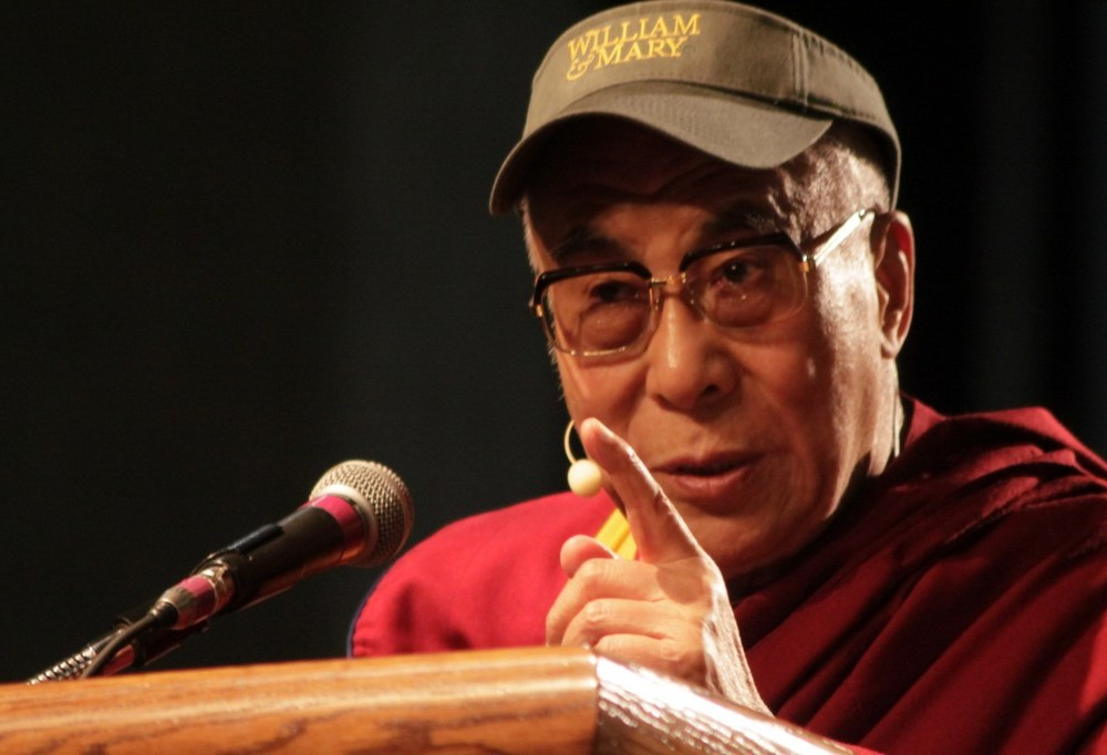His Holiness the Dalai Lama speaks on compassion at the College of William and Mary