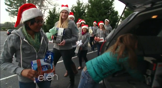 Ellen finds little helpers at the College