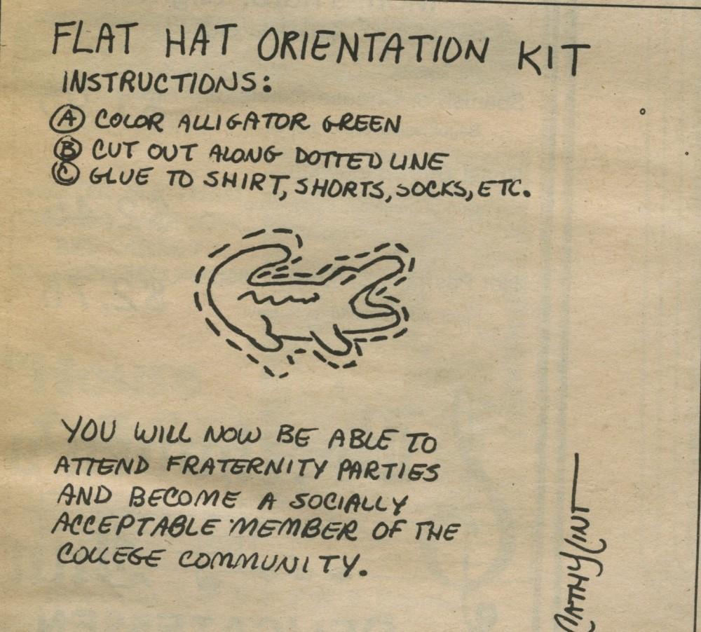 """Flat Hat Orientation Kit"" – September 1, 1978"