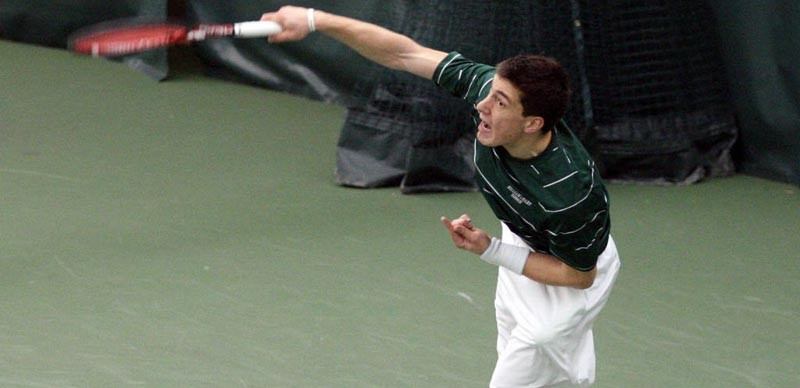 Men's Tennis: Tribe falters in singles play, falls to No. 34 Northeastern