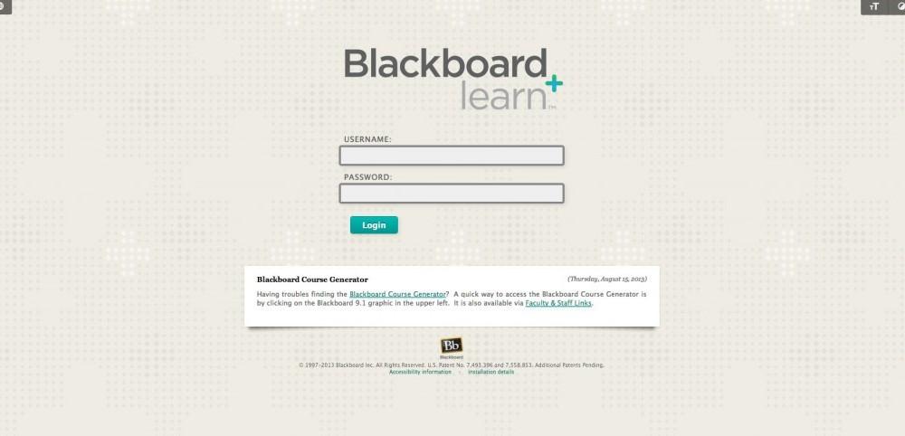 Blackboard database malfunctions