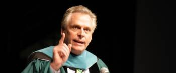 McAuliffe addresses crowd at Charter Day