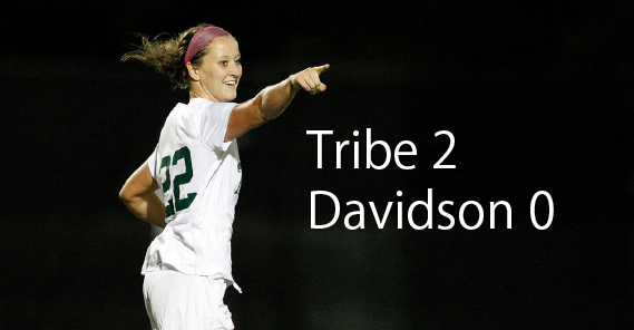 Women's soccer: Tribe drops Davidson on road, 2-0