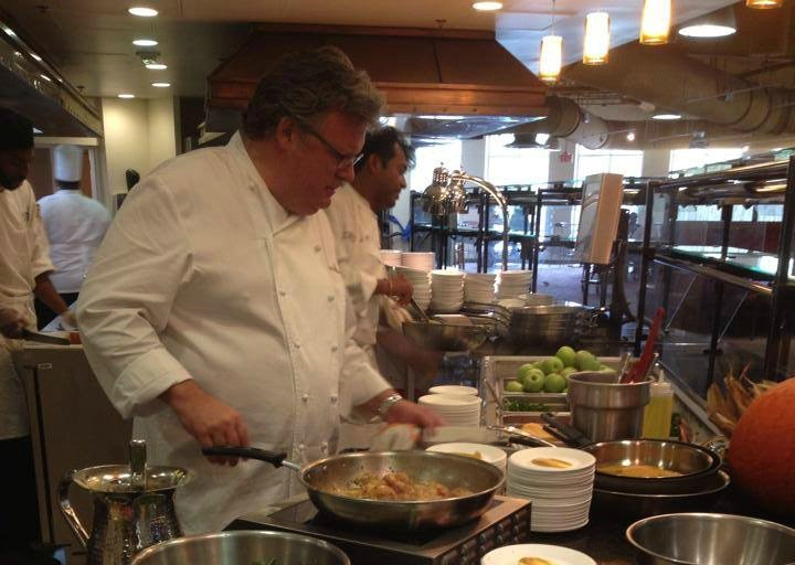 Celebrity chef David Burke visits Chancellor's Bistro for official opening