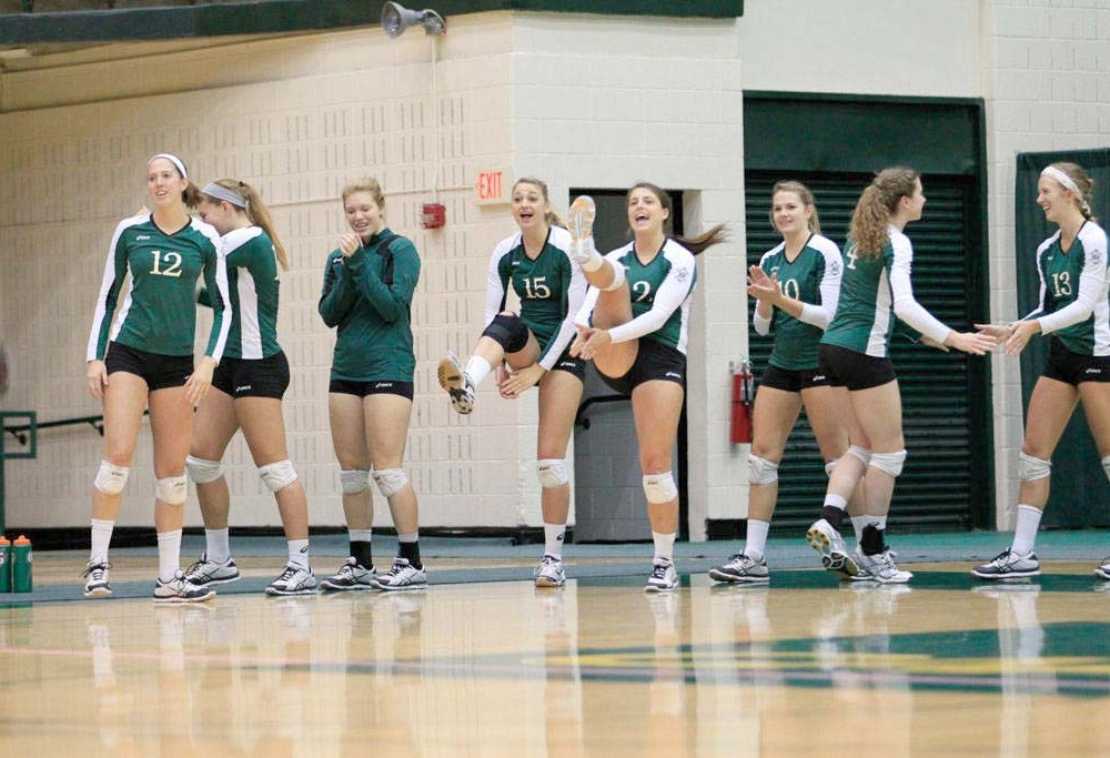 Volleyball: College earns first CAA victory