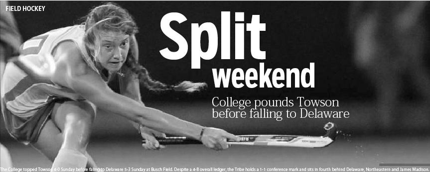 Field hockey: College splits weekend home stand
