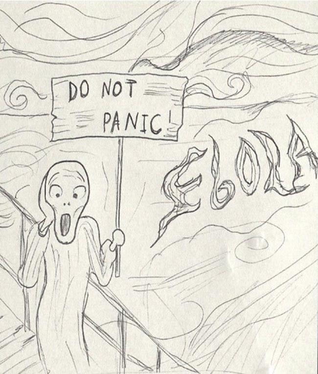 Ebola hysteria harms the intellect rather than the body