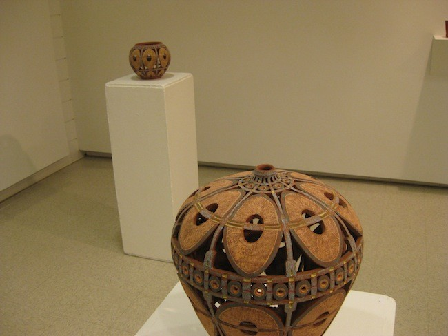 An array of ceramics at Andrews Gallery
