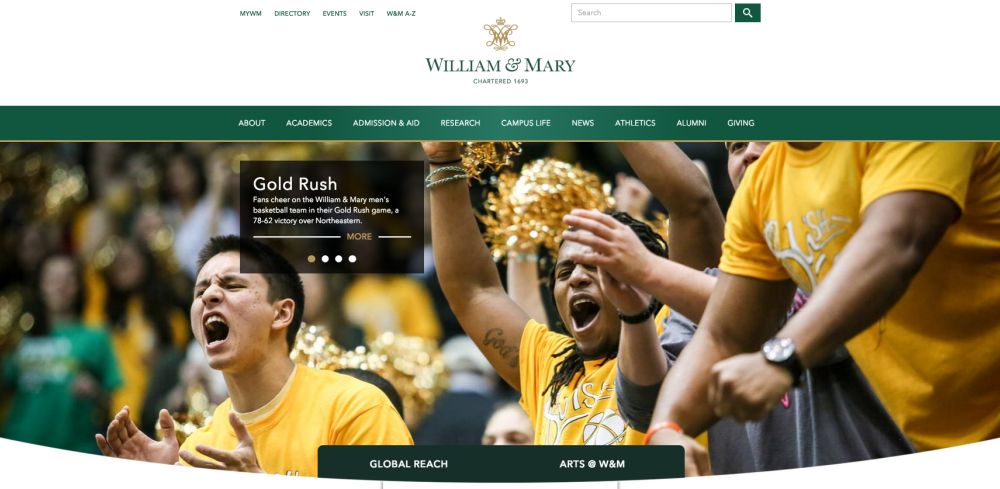 College launches new website design