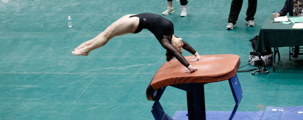 Women's Gymnastics: College finishes fourth in University of Maryland quad meet