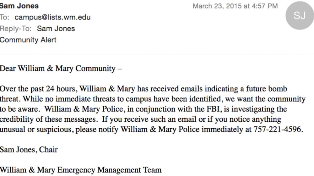 Updated: No immediate danger seen in bomb threats reported Monday
