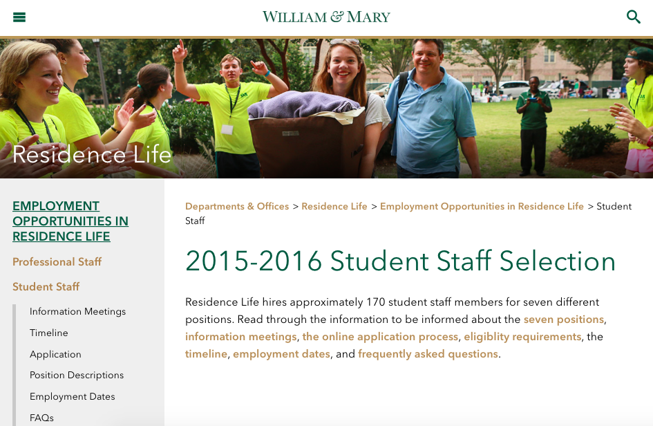 ResLife discusses hiring process