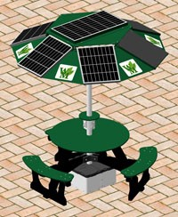 College to install solar panel charging stations on campus