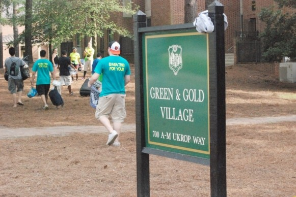 Suspicious male reported outside Green and Gold Village