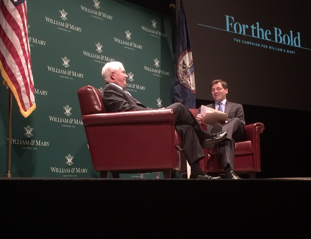 Gates talks American foreign policy with NY Times White House Correspondent