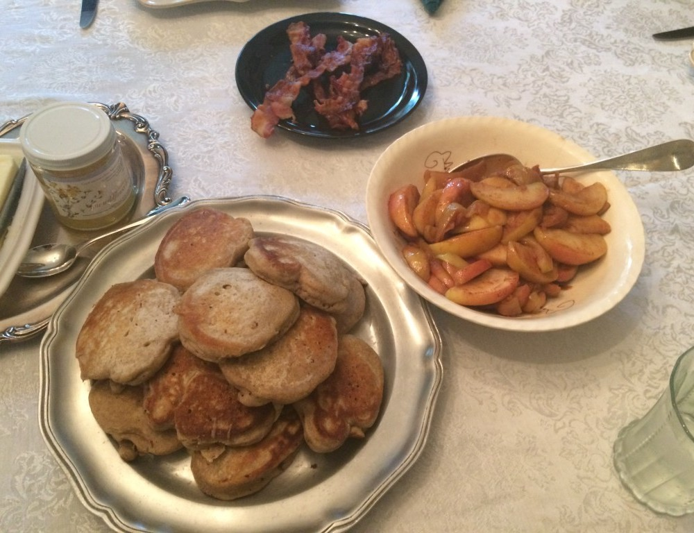 When you can't have fall the way you want it, there's always apples and buckwheat pancakes
