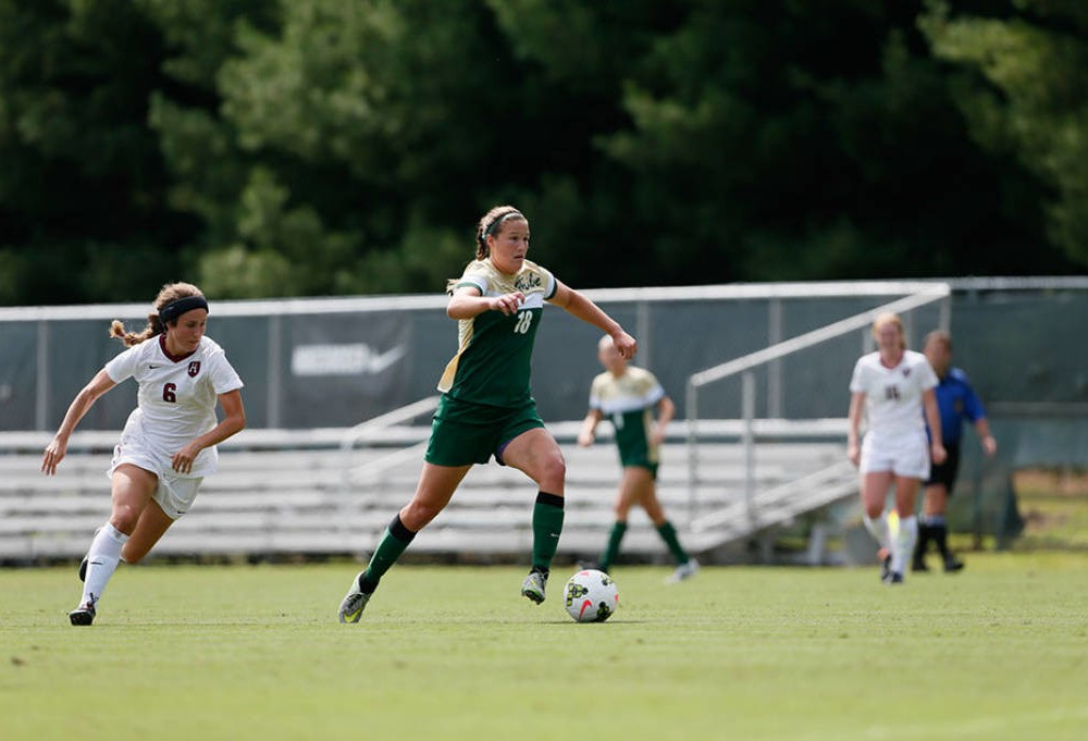 Women's soccer: Tribe defeats College of Charleston 1-0 by Johnston's golden goal