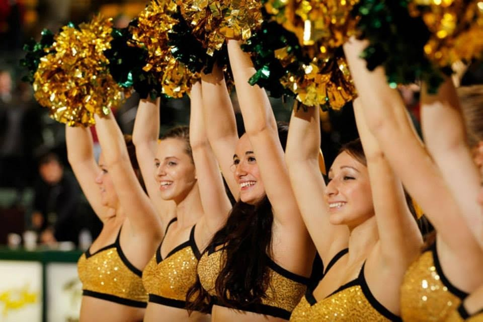 Get up and dance: Dance team pumps up the crowd