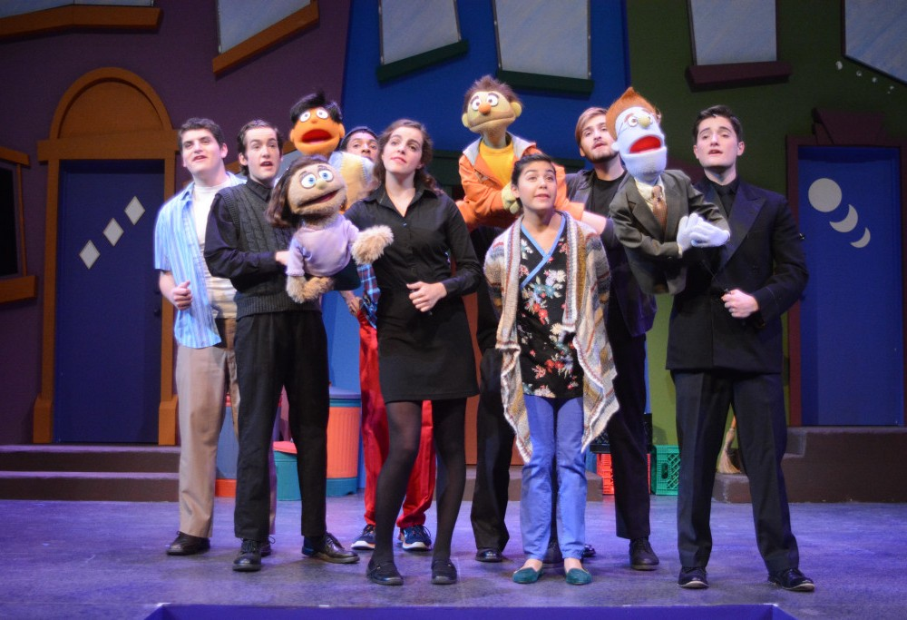 Provocative puppets, student stars bring Avenue Q to PBK