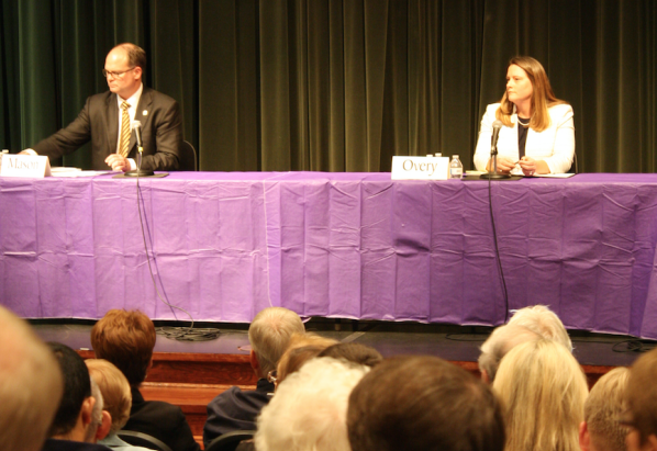 Mason, Overy debate transportation, education, gun control
