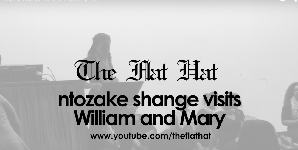 ntozake shange visits William and Mary